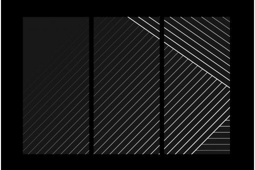 Модульная картина Белое на черном